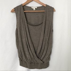 Banana Republic Silk sleeveless layered wrap top